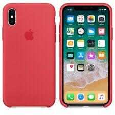 Red Raspberry GENUINE ORIGINAL Apple Silicone Case NEW iPhone X RRP $39