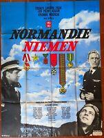 Plakat Normandie-Niemen Pierre Trabaud Jean Dréville Aviation Krieg 120x160cm