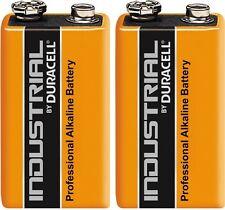Duracell Industrial Alkaline 9v MN1604 PP3 6LR61 Battery - Pack of 2