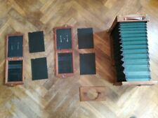 Großformat Laufbodenkamera Holzkamera 13x18 Baujahr ca 1900 wetplate + Planfilm