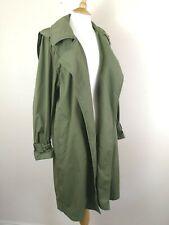Zara Women Overcoat. Parka. Khaki Green. SMALL. Long. Military. Trench.