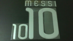 MESSI #10 Argentina Away World Cup 2010 Silver Color Name Set