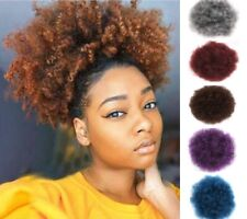 Synthetic Short Afro Kinky Curly Hair Ponytail Drawstring Puff Hair Extensions