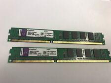 4GB(2 X2GB) Kingston PC3-10600 2 GB DIMM 1333 MHz DDR3 Memory (KVR1333D3S8N9/2G)