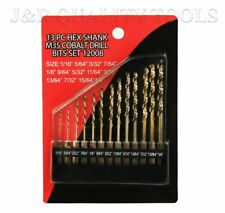 13pc Drill Bit Hex Shank Quick change Set With High Quality Cobalt Drill Bits
