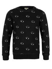 KENZO Boys Black Eye Print Black Sweat-shirt Age 4 years BNWT RRP £ 80.00