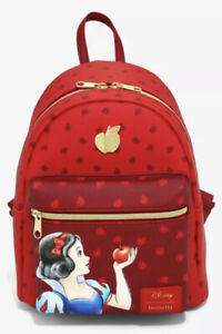 Disney Loungefly Snow White And The Seven Dwarfs Red Apple Mini Backpack