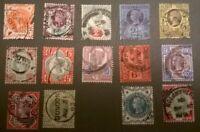 Great Britain QV SC 111-122 125-26 * SG 197-211 213-14 *1887 JUBILEE SET LOTJ