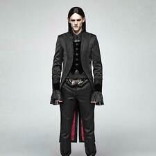 Punk Rave Gothic frac Gothic abrigo señores negro fundador tiempo noble tailcoat