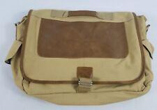 GULFSTREAM Messenger Laptop Bag Leather Canvas Plaid Man Gulfstream Aerospace
