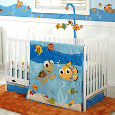 Disney Finding Nemo Luxury Applique 4 Piece Crib Bedding Set