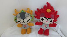 "Beijing plush 2008 Olympics Fuwa dolls HuanHuan flame Yingying  10.5 & 12"" lot 2"