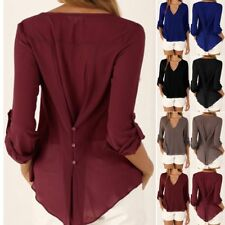 Fashion Women T-shirt Summer Shirt Blouse Tops Slim/Loose V-neck Long Sleeve