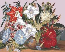 grafitec imprimé tapisserie / toile de à l'aiguille – Tropical BOUQUET