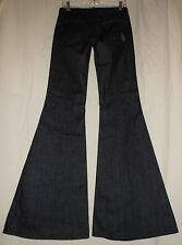 7 For All Mankind USA 27 Dark Denim Stretch Midrise Bell Bottom Jeans 27X33 New