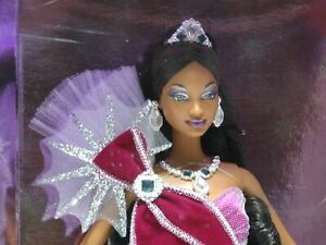2005 Mattel Bob Mackie African American Holiday Barbie Purple Dress #H8178 New