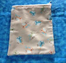 Bird zipper pouch make up bag cell phone holder coin purse
