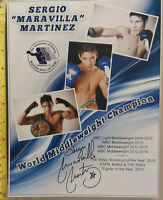 """SERGIO MARTINEZ HAND SIGNED 10 X 8"""" IBHOF PHOTO & COA - OFFERS ACCEPTED"""