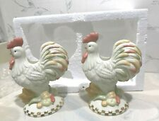 New Lenox Rise N Shine Rooster Thanksgiving Holiday Candlesticks Candle Sticks