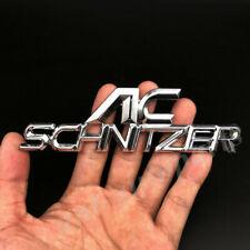 Metal Chrome AC SCHNIZER Logo Car Trunk Rear Fender Emblem Badge Decal Sticker