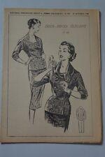 """"""" FEMMES D'AUJOURD'HUI """" PATRON SUPPL. N°595 // DEUX PIECES ELEGANT TAILLE 44"""