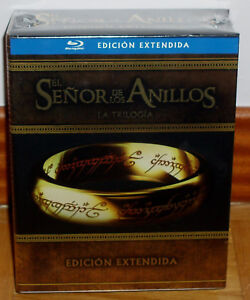 The Trilogy The Señor Of the Rings Extended Versions 6 Blu-Ray + 9 DVD New R2