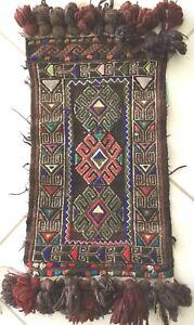 Alte Afghan Nomaden Soumakh Kelim Belutsch Tierschmuck Baluch Animal Jewelry Rug