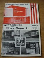04/05/1968 Sunderland v West Bromwich Albion  (Slight Crease & Rip On Spine). No