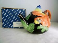 Fitz & Floyd 1989 Jungle Parrot Teapot - Collectible 20/810 In Box
