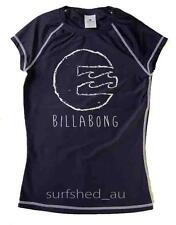 Billabong Surfday Womens Rashie Rash Vest Swim Top Shirts - Navy 10