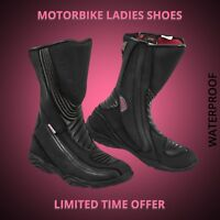 Ladies Motorbike Fashion Leather Boot Special For Motorcycle Rider Women Armors