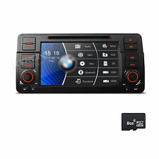 "7"" HD Auto Car DVD Player GPS Navigation 1DIN Radio Stereo For BMW E46 318 320"