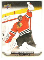 2015-16 Upper Deck CANVAS #C22 COREY CRAWFORD Chicago Blackhawks QTY Available