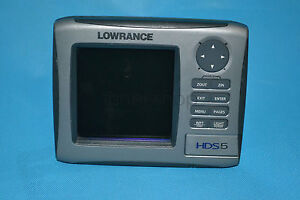 Lowrance HDS 5 Gen1 GPS Fishfinder  sonar (Only HDS5 head unit ,no other parts )