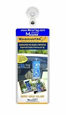 Windshield Tag by JL Safety. Handicap Placard Protective Holder with Suction Cup