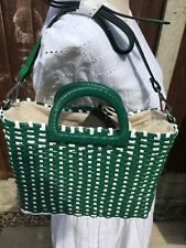 Zara Two - Tone Woven Tote Bag New With Tags