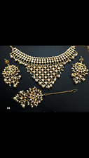 Traditional  Kundan and Pearl   drops  Choker  Ceremonial Jewellery Set