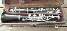 Early 1900's Buescher High Pitch Wood Clarinet in Case for Restoration