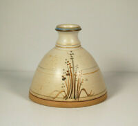 Vintage Mid Century Studio Pottery Vase Stoneware Flower Posy Signed K