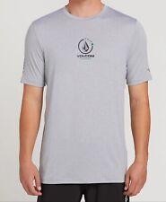 Volcom   Maui Hawaii HI UPF 50 Surf Swim Rashguard Short Sleeve Shirt   Gray