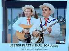 Earl Scruggs Signed Banjo Man 11x14 Photo JSA E15807