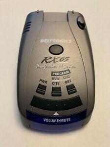Beltronics RX65 Professional Radar Detector - Silver