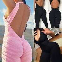 Women Workout Gym Yoga Fitness Leggings Pants Sexy Jumpsuit Sports Romper X884