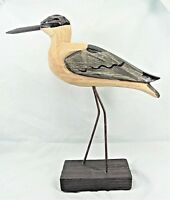 Shore Bird Hand carved and painted wood on stand Beach decor (A)