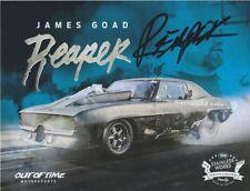 "2018 James Goad ""Reaper"" signed Stainless '68 Camaro PRI Street Outlaws postcard"