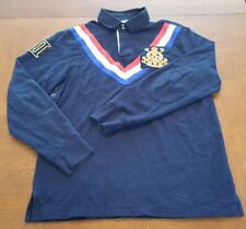 Polo Ralph Lauren PRL Club Embroidered Crest Elbow Patch Rugby Long Sleeve Shirt