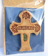 Jesus Cross Wall hanging Jerusalem Stone Sand Holy land,Christian Religious Gift