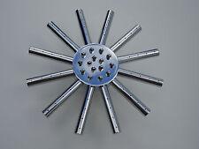 Star duré tête de douche, 18.5CMS, Laiton & miroir chrome, Pivotant joint, 004