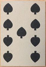 Vintage Circa 1865-1880 Great Mogul Belgian Playing Card 9 of Spades