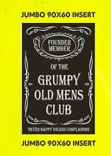 GRUMPY OLD MEN'S CLUB JUMBO FRIDGE MAGNET FUNNY BIRTHDAY NO UK P&P GIFT